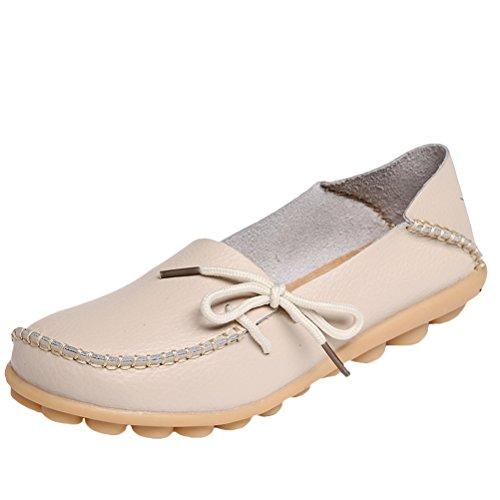 Vogstyle - Zapatillas de casa Mujer Estilo 1-Beige