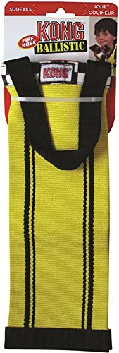 KONG Fire Hose Ballistic Bottle Tracker Toy for Dogs, Large, Colors vary (Ballistic Material)