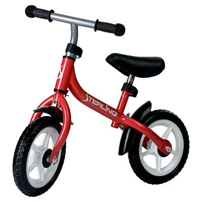 "WonkaWoo Ride & Glide Mini Cycle 10"" Balance Bike Color: Red"