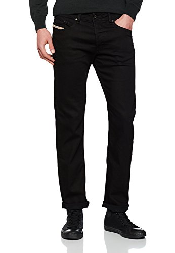 Belther Negro para Tapered Vaqueros Diesel Hombre ZwARZd