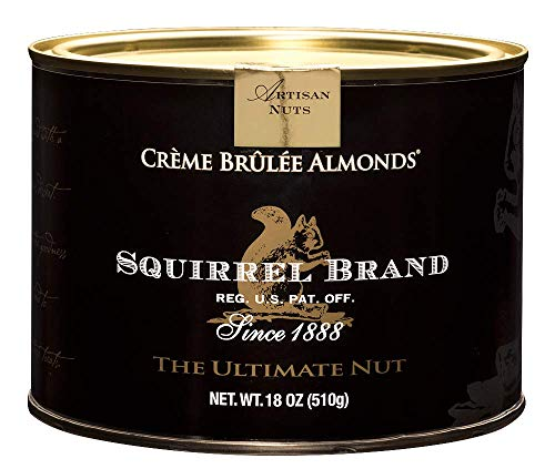 (SQUIRREL BRAND Artisan Nuts, Creme Brulee Almonds, 18 oz Gift Tin)