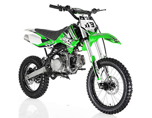 5 Speed Rear Engine - Apollo DB-X18 125cc Dirt Bike Green