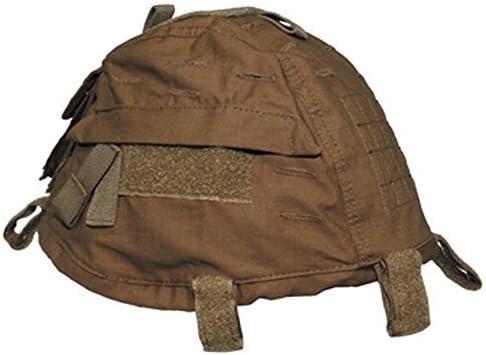MFH Grössenverstelbarer Helmbezug mit Taschen Helm Bezug Tarnbezug Cover für Stahlhelm Camo Camouflage viele Farben