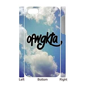 wugdiy New Fashion Hard Back Cover 3D Case for iPhone 4,4S with New Printed OFWGKTA