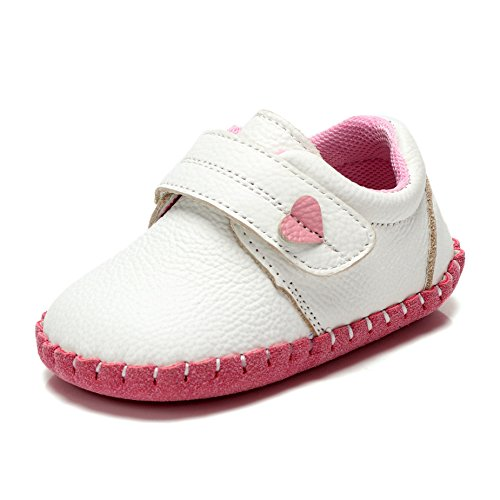 Fbetter,Baby First Walking Shoes For Baby Girls Boys Sneakers White-pink 12-18 Month