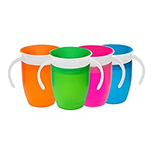 Munchkin Miracle 360 Degree Trainer Cup, 207 ml Capacity (colours may vary - green, pink, orange, blue)
