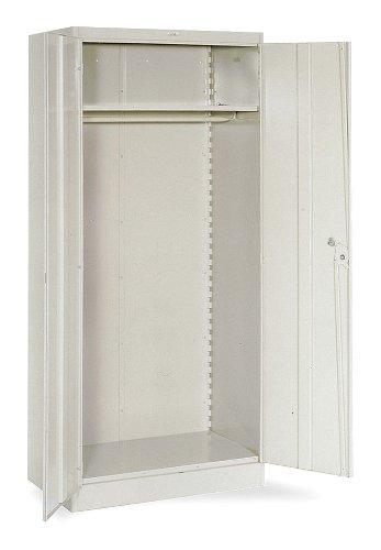 (Lyon DD1096 1000 Series Wardrobe Cabinet with 1 Full Shelf and Coatrod, Steel, 36