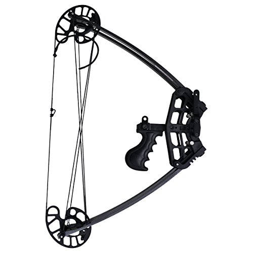 Adult 25 or 55 lbs Child ASD Right Handed Black Archery Compound Bow Set 20