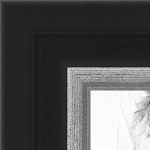 ArtToFrames 24x34 inch Black Velvet with Silver Picture Fram