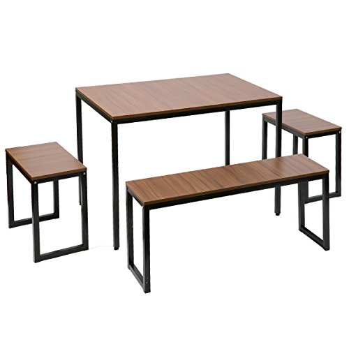Harper&Bright Designs Collection Dining Table with Bench Set / 4-Piece set by Harper&Bright Designs
