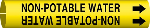 Brady 4102-A Bradysnap-On Pipe Marker, B-915, Black On Yellow Coiled Printed Plastic Sheet, Legend
