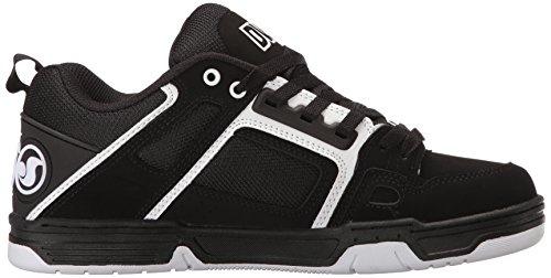 Herren Comanche Skate Schuh der Dvs-Schuh-Männer Schwarz / Weiß Nubuk