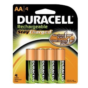Duracell Rechargeables StayCharged AA Batteries, 4-Count Battery Charged Re Chargeable Duracel New Gadget