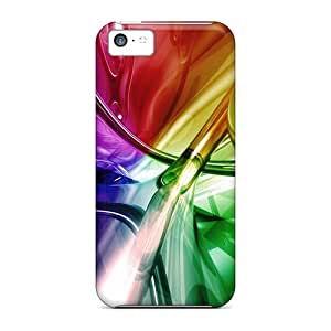 AkNftcI1402SSQvI Tpu Phone Case With Fashionable Look For Iphone 5c - Rainbow Abstract