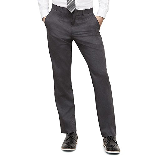 Kenneth Cole REACTION Men's Grey Solid Suit Separate Pant, Gray, 34x34 by Kenneth Cole REACTION