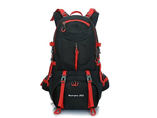ハイキング60lスポーツアウトドアバックパック登山バッグハイキングキャンプバックパック(ブラック) forアウトドア旅行   B07FDZH74Z