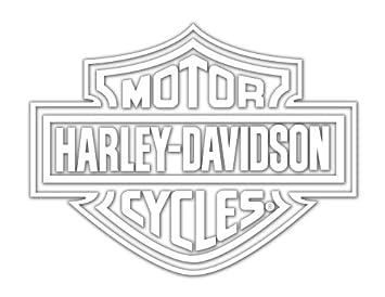 Amazoncom HarleyDavidson Logo Cutz Rear Window Decal Harley - Chevy rear window decals trucksharleydavidson rear window graphic decal lightning