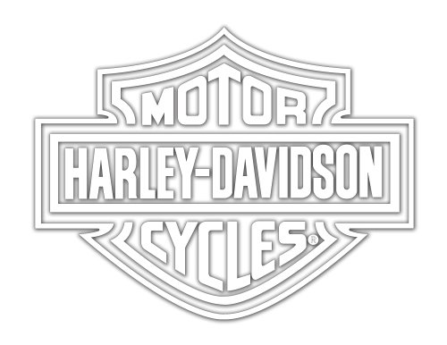 Harley-Davidson Logo Cutz Rear Window Decal