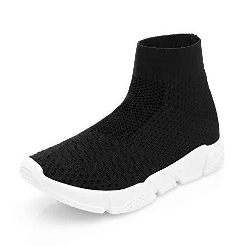 Wonvatu Walking Shoes for Women Lightweight Running Socks Shoes Mesh Slip On Athletic Running Sneakers Black