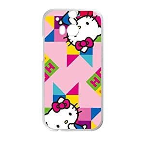 Hello Kitty Colorful HTC One M8 Cell Phone Case White Protect your phone BVS_620189