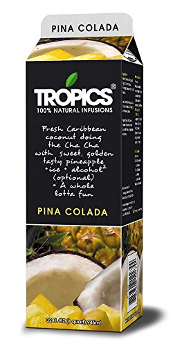 Tropics Pina Colada Drink Mix, 32 Ounce -- 12 per case. by Beverage Innovations