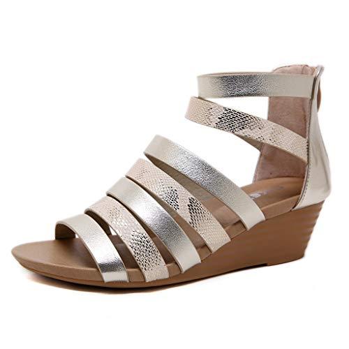 Navy Country Lambswool - Womens Roman Gladiator Flat Sandals-AopnHQ,Platform Wedge Sandals Gladiator Bohemian Sandals