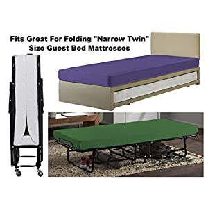Gilbins 30″ x 75″ Cot Size 3-Piece Bed Sheet Set, Made of Ultra Soft Cotton, Perfect for Camp Bunk Beds / RVs / Guest Beds Navy