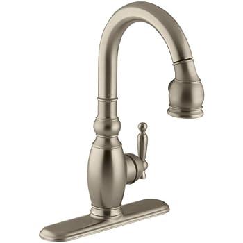 Kohler K 690 G Vinnata Kitchen Sink Faucet Brushed Chrome