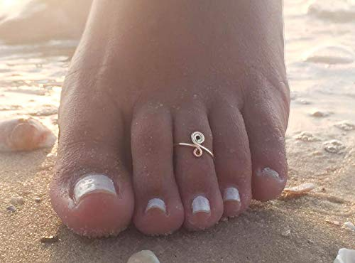 ng-Rose Gold Toe Ring-Spiral Toe Ring-Foot Jewelry-Adjustable Toe Ring-Beach Jewelry-Summer Jewelry-Boho Toe Ring ()