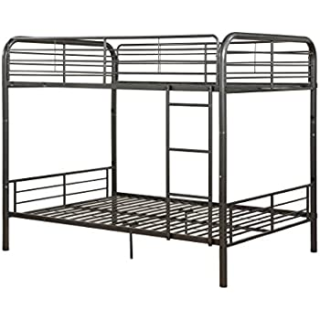 Powell Heavy Metal Full Over Full Bunk Bed In Pewter