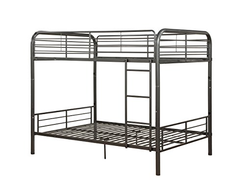 ACME Bristol Gunmetal Full over Full Bunk Bed (Coaster Twin Over Twin Convertible Loft Bunk Bed)
