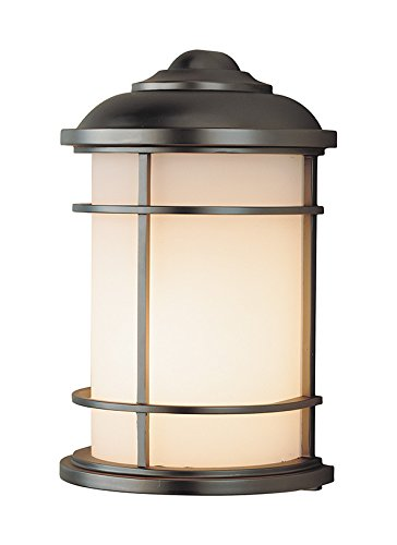 Feiss One Lantern OL2203BB, Lighthouse Outdoor Wall Pocket Sconce Lighting, 100 Total Watts, Bronze