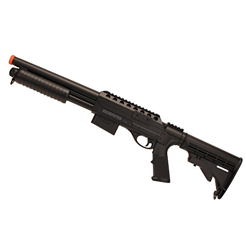 Crosman ASGM47 Voodoo Spring Powered Single Shot Pump Action Shotgun, Black, 6.0mm