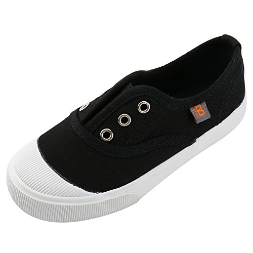 Price comparison product image Alexis Leroy Kid's Low-Top Classic Slip on Sneakers Black 33 M EU / 1.5-2 M US Little Kid