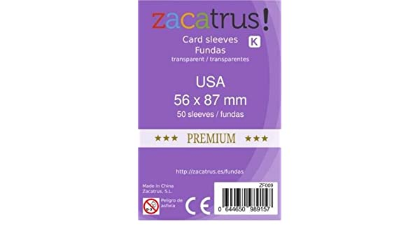 FUNDAS ZACATRUS USA PREMIUM 56 MM X 87 MM (50): Amazon.es ...