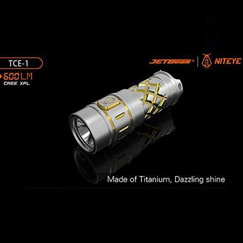 Bazaar JETBeam TCE-1 Ti Cree XPL Titanium 600LM Wasserdichtes 16340 LED Taschenlampe