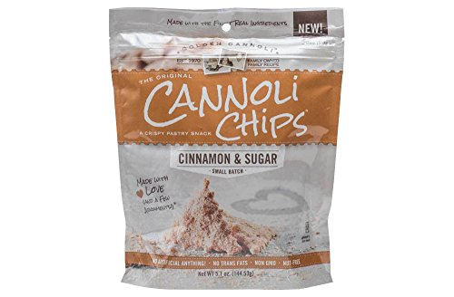 Golden Cannoli Cinnamon & Sugar Cannoli Chips 5.1oz , pack of -