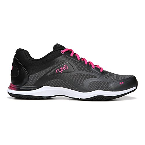 Ryka Women's Grafik 2 Cross-Trainer Shoe, Black/Grey/Pink, 8 M US