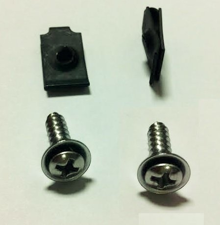 Under Dash TheStopShop 1969 Steering Column Cover Mounting Hardware Set Screws and J-Nuts