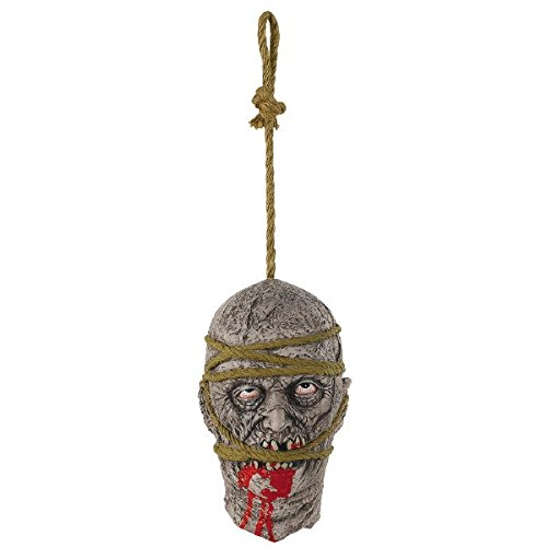 [Amscan Hanging Zombie Head Creepy Halloween Trick or Treat Party Prop Decoration (1 Piece), 11
