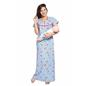 Soulemo Women's Cotton Floral Maxi Nighty