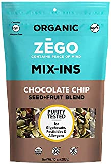 product image for ZEGO Foods Seed + Fruit Mix-Ins, Trail Mix, Non GMO, Organic, Vegan, Gluten Free, 10oz (Chocolate Chip)