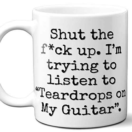Teardrops on My Guitar Song Gift Coffee Mug. Funny Parody Lover Fan