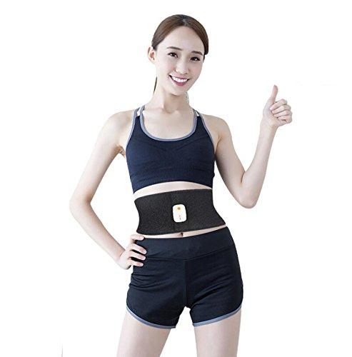 NINI EMS Bauchmuskelstimulation Körpergewicht App Blautooth Control Massage Gürtel Wiederaufladbare Schwarz Fettverbrennung