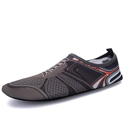 XINYI Aqua playa nadar zapatos de agua de secado rápido Slip On Piel Zapatos de Yoga calcetines para Unisex, tela, A14, XL39-40 A9