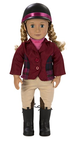 Our Generation Lily Anna Poseable Deluxe Doll Set with Riding Outfit, Award Ceremony Outfit, and Adventure at Shelby Stables Storybook
