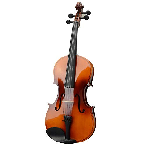 (Shuixiang 16 inch Acoustic Retro Color Viola Set with Carrying Case Bow Rosin Kit)