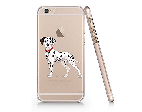 sports shoes 53866 ae459 Amazon.com: Cute Dalmatian Dog Clear Transparent Plastic Phone Case ...