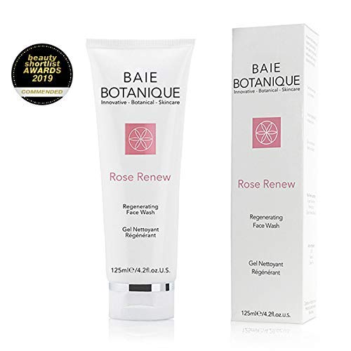 (Face Wash 125ml - FLASH SALE - Rosewater, Rose Absolute, Rosehip Seed Oil, MSM, Vitamin C, Green Tea - Award Winning - 98% Natural, 70%)