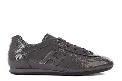 Hogan Damenschuhe Turnschuhe Damen Leder Schuhe Sneakers olympia Grau